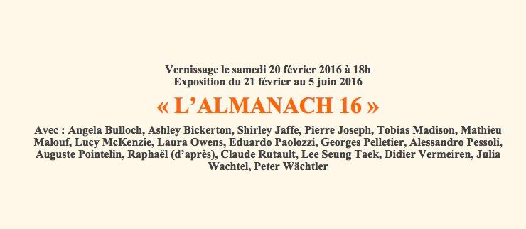 L'Almanach 16